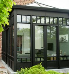 Image result for brick stoop with glass conservatory