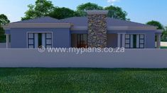 3 Bedroom House Plan – My Building Plans South Africa Round House Plans, Split Level House Plans, Square House Plans, Metal House Plans, My House Plans, Family House Plans, My Building, Building Plans, House Plans South Africa