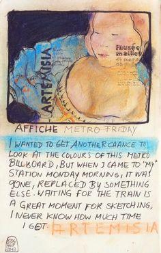 """Metro Poster Exhibition """"ARTEMISIA"""" at the Musée Maillol in Paris"""