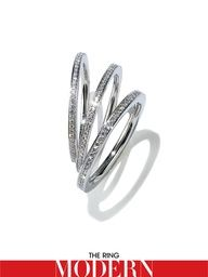 My dream wedding band - Belle by Harry Winston - modern but with a classic twist