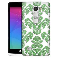 LG Leon Damasks Floral Green on White Slim Case