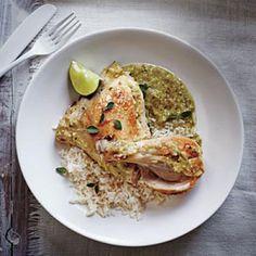 Slow Cooker Chicken Verde Recipe | CookingLight.com