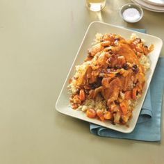 moroccan chicken slow cooker Ingredients  4 medium carrots, sliced  2 large onions, halved and sliced  1 broiler/fryer chicken (3 to 4 pounds), cut up, skin removed  1/2 teaspoon salt  1/2 cup chopped dried apricots  1/2 cup raisins  2 tablespoons all-purpose flour  1 can (14-1/2 ounces) reduced-sodium chicken broth  1/4 cup tomato paste  2 tablespoons lemon juice  2 garlic cloves, minced  1-1/2 teaspoons ground ginger  1-1/2 teaspoons ground cumin  1 teaspoon ground cinnamon  3/4 teaspoon…