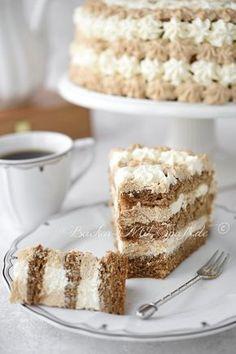 Kaffee- Mascarpone- Torte Coffee Torte, Coffee Cake, Cappuccino Torte, Grandma Cake, Sweet Desserts, No Bake Desserts, Delicious Desserts, Dessert Recipes, German Cake