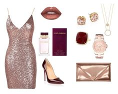 """""""Shine on!"""" by myguiltycloset ❤ liked on Polyvore featuring Kate Spade, Christian Louboutin, Tory Burch, Alexander Wang, Lime Crime, Dolce&Gabbana, Anne Sisteron and Michael Kors"""