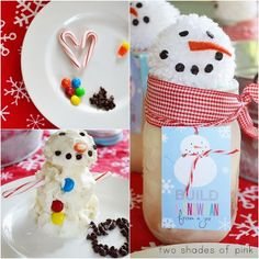 Build an Ice Cream Snowman From A Jar with free printables  {Two Shades of Pink}