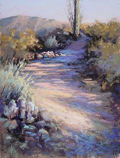 Sunset Hike by Barbara Jaenicke Pastel ~ 14 x 11