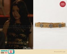 Mariana's embellished belt on The Fosters. Outfit Details: http://wornontv.net/28880 #TheFosters #fashion