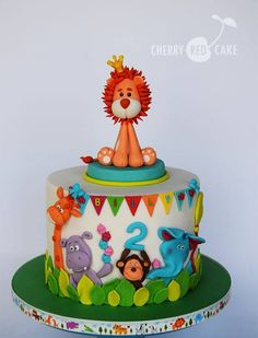 Birthday party for the King 🙂 Lion based on Sweet Love Cake Couture design. Birthday party for the King 🙂 Lion based on Sweet Love Cake Couture design. Jungle Theme Cakes, Safari Cakes, Zoo Cake, Baby Birthday Cakes, Cake Baby, Circus Birthday, Birthday Cake For Kids, Circus Party, 2nd Birthday