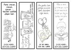 """FUENTE: LA EDUTECA Poesía del Día del Libro """"La Eduteca"""" (PDF ) En Actiludis nos proponen algunas actividades para realizar en e... Halloween Coloring Pages, Reading Resources, Conte, Book Making, Happy Kids, Story Time, First Grade, Bookmarks, Arts And Crafts"""