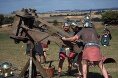Roman catapult.