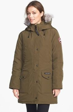 Shop Now - >  https://api.shopstyle.com/action/apiVisitRetailer?id=631251819&pid=uid6996-25233114-59 Women's Canada Goose 'Trillium' Regular Fit Down Parka With Genuine Coyote Fur Trim  ...