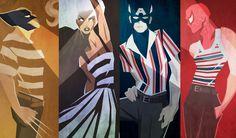 Cute: Artistas misturam Quadrinhos e Moda - http://modaparahomens.com.br/