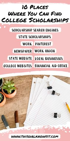 Finding a college scholarship doesn't have to be hard. There are tons of resourc… Finding a college scholarship doesn't have to be hard. There are tons of resources out there! Check out this post on 10 places where you can find college scholarships. Find A College, College Mom, College Majors, Online College, Scholarships For College, College Hacks, Education College, School Scholarship, College Essentials