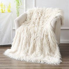 Bedding Dashing Super Soft Warm Shaggy Faux Fur Blanket Ultra Plush Decor Throw Blanket Bedding