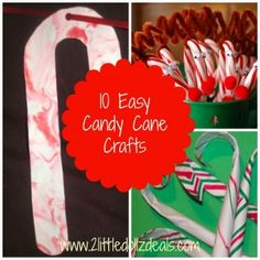 10 Easy Candy Cane Craft Projects For Kids #Christmas #crafts Here --> http://www.2littledollzdeals.com/?p=11720