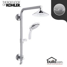 View the Kohler HydroRail K-99105/K-17493 Package Moxie HydroRail Shower Package with Single Function Shower Head and Multi-Function Hand Shower at Build.com.