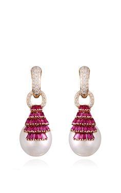 Regal Ruby Earrings by Farah Khan Fine Jewelry for Preorder on Moda Operandi