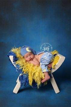 Baby Rock Photography! LCTCST611 Printed Blue Old Master 8x8 Backdrop IN STOCK / LAST CALL