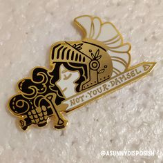 Chivalry is outdated. Hard enamel with gold and silver plating. Jacket Pins, Cool Pins, Chivalry, Pin And Patches, Metal Pins, Pin Badges, Lapel Pins, Pin Collection, Creations