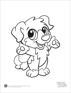 Learning Friends Dog baby animal coloring printable from LeapFrog. The Learning Friends prepare kids for school in a playful way! When children color, they strengthen the small muscles in their hands that help them learn to write. Encourage children to color by providing lots of access to coloring pages and crayons.