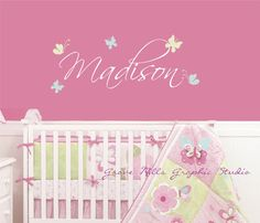 Girls Room Wall decal butterfly design  by GroveMillsGraphics, $20.00