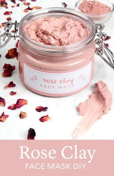 Rose Clay Face Mask DIY (Soap Queen) Rose clay is a naturally beautiful skincare ingredient. It adds a soft, rosy hue to this Rose Clay Face Mask. Rose clay has gentle oil-absorbing properties, making this mask suitable for both dry and Homemade Face Masks, Homemade Skin Care, Diy Skin Care, Homemade Products, Face Scrub Homemade, Diy Spa Products, Homemade Shampoo Recipes, Skin Care Masks, Homemade Soaps