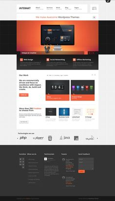 Interakt | Responsive #wordpress Theme http://themefuse.com/wp-themes-shop/agency-wordpress-theme/?r=27299 #web #design #business