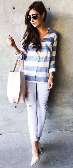 casual style perfection bag + shirt + rips