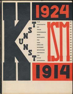 El Lissitzky - projekt El Lissitzky, Jean Hans Arp, Die Kunstismen, 1914-24…