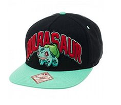 56a8e698a4d Pokemon Bulbasaur 2-Tone Adult Snapback Cap One Size Fits Most – Pokemon Cap