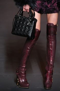 Dior and Above Knee Boots - Dior Boots - Trending Dior Boots. - Dior and Above Knee Boots Thigh High Boots, Knee Boots, Bootie Boots, Women's Boots, Tall Boots, Crazy Shoes, Me Too Shoes, Photography Tattoo, Sexy Stiefel