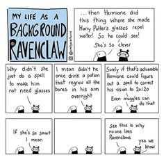 """4,563 Likes, 96 Comments - @emilyscartoons on Instagram: """"Another very special #Ravenclaw edition  all tea all shade"""" Draco Malfoy, Hermione Granger, Harry Potter Comics, Harry Potter Jokes, Harry Potter Fandom, Harry Potter Universal, Wearing Glasses, Ravenclaw Personality, Fantastic Beasts"""
