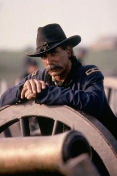 Sam Elliott from Gettysburg.  I LOVE watching him in movies.  He is one of my favorite tough-guy cowboy actors.