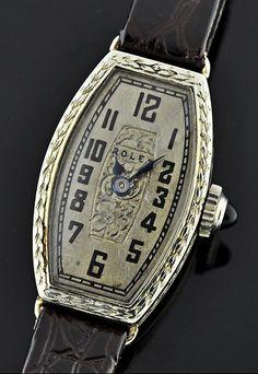 1930s white gold Rolex.