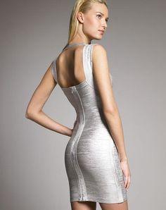 50421b817af Для женщин Sexy Холтер золото платье Спагетти ремень оболочки Бандажное  платье цвета  золотистый