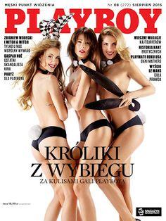 Playboy (Poland) August 2015  with KROLIKI Z WYBIECU on the cover of the magazine