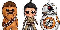 """Learn How to Draw Your Favorite Star Wars Characters. Easy for kids and adults to learn how to draw from Youtuber """"Draw So Cute""""."""