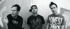 The guys of Blink 182 (Tom DeLonge, Mark Hoppus, Travis Barker)