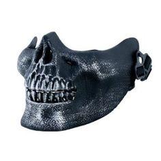 Net shopping for Half Skull Mask - Halloween / Paintball - Skeleton Jaw - Face Protection Mask for  #Halloween Gifts Idea Shopping Online