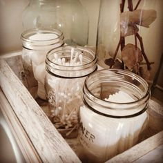 20 Ways With Kilner Jars 2019 Kilner jars aren't always about the kitchen. They make ideal vintage storage solutions for your bathroom also! The post 20 Ways With Kilner Jars 2019 appeared first on Storage ideas. Kilner Jars, Mason Jars, Bedroom Inspo, Bedroom Decor, Seaside Bedroom, Bedding Decor, Bedroom Inspiration, Dream Bedroom, Uni Room