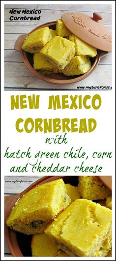 New Mexico Cornbread is filled with the flavors of New Mexico  Whole Corn and Green Chile!!   http://www.myturnforus.com/2015/02/new-mexico-cornbread.html