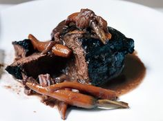 Beef Cheeks Braised in Red Wine with Orange Zest (Joues de Boeuf aux Agrumes) Recipe  | Epicurious.com