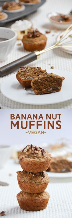 Banana Nut Muffins (Vegan) | Pumps & Iron