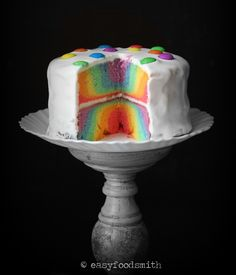 Rainbow Cake @easyfoodsmith