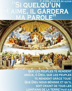 PAROLE -  année  liturgique C (images  et PAROLE) : C - 6 DIM. PÂQUES