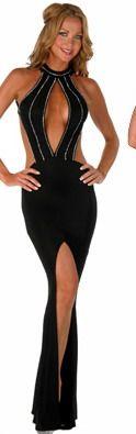 Rochii de seara - TrendyLook Gown With Slit, Black Gowns, Backless, Dress Up, Bodysuit, Stuff To Buy, Tops, Women, Fashion