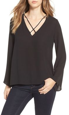 WOMEN'S LUSH CROSS FRONT BLOUSE Nordstrom https://www.shopstyle.com/action/loadRetailerProductPage?id=616390276&pid=uid3481-23865059-61