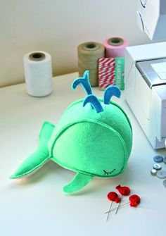 Whale pin cushion