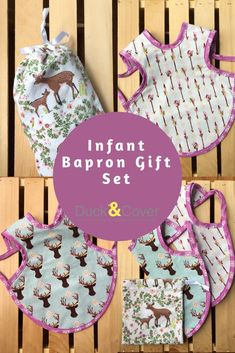Practical and fun baby gift! Bohemian style 2 infant bapron set with reusable gift bag. Parents will love the full coverage and pouch pocket for catching food! Perfect for baby showers and first birthdays. Cute Baby Gifts, Best Baby Gifts, Baby Gift Sets, Fun Baby, Baby Baby, Baby Shower Gift Bags, Best Baby Shower Gifts, First Birthday Gifts, First Birthdays